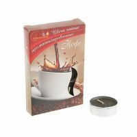 Свечи CHAMELEON «Кофе» 6 шт 1,5 см ароматизированные чайные в гильзе MNC00-20