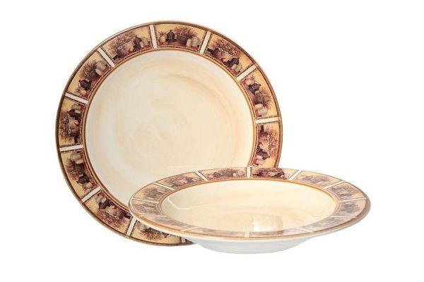 Набор тарелок:суповая и обеденная Натюрморт, LCS353V-AL