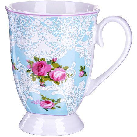 Кружка Loraine «Цветы» 330 мл фарфоровая 27882