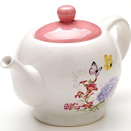 """Заварочный чайник 950 мл с крышкой """"БАБОЧКИ"""" LORAINE, 25637"""