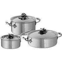 Набор медной посуды RUFFONI Opus Prima 3 предмета: кастрюля 3,5 л, ковш 1,6 л, сотейник 5 л Z06 Ruffoni