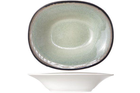 Тарелка для супа овальная 17,5х21,5 см (Каменная керамика) Fez green, COSY&TRENDY 9212174