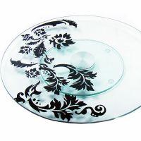 Блюдо в форме круга вращающаяся из стекла Mayer&Boch, 3050