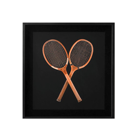 Картина RESTORATION HARDWARE «Теннисные ракетки» 93x88x7 см H-DIM-WS-0002-Z