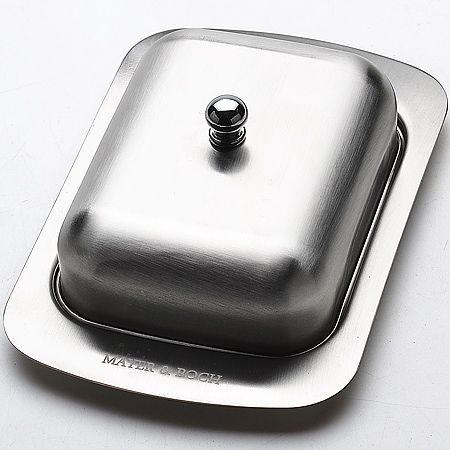 Масленка Mayer&Boch из нержавеющей стали цвет матовый хром 23516