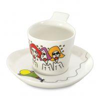 Набор 2шт чашек для кофе с блюдцем 0,18л Eclipse ornament 3705006 BergHOFF