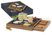 Набор для сыра: разделочная доска + 4 ножа Мир сыров, R2S891_WOCH-AL