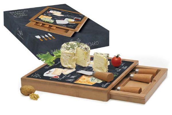 Набор для сыра Easy Life (R2S) «Мир сыров» разделочная доска и 4 ножа R2S891_WOCH-AL