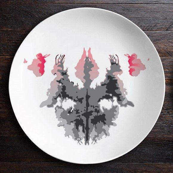 Набор тарелок «Ужин с Роршахом», Гаргульи/Мотылек O104
