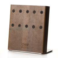 Подставка с магнитными держателями Chef для 5-ти ножей натуральный ясень Chef CH-003/GL
