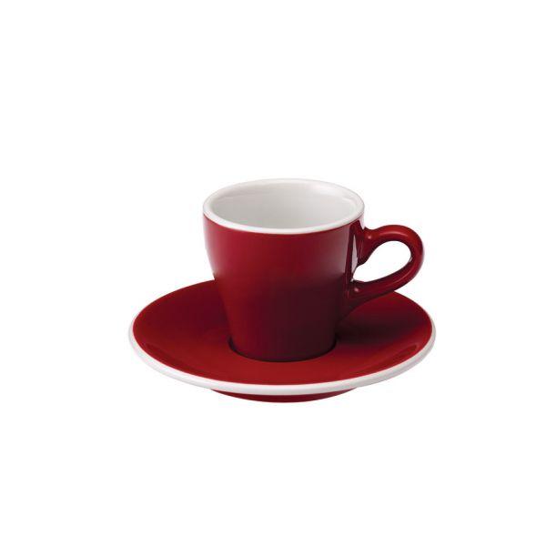 Кофейная пара LOVERAMICS 80 мл цвет красный C087-45BRE/C087-46BRE