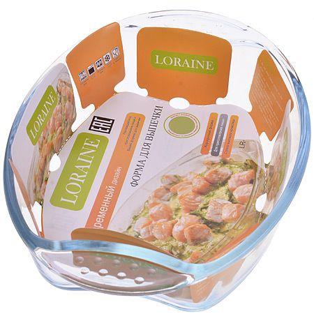 Жаровня Loraine 2 л 31x21,3x6,5 см из стекла 20668
