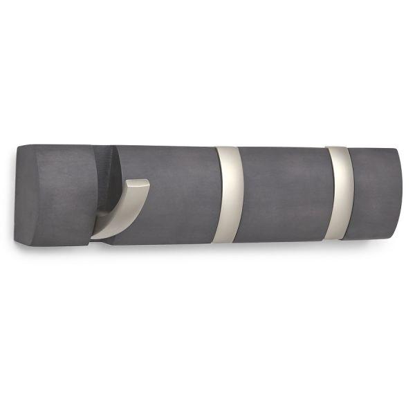 Вешалка настенная горизонтальная Flip 3 крючка дерево/никель 318853-1143