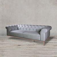 Диван ROOMERS 68x224x90 см цвет серый, медный S0200-3D/grey  B#67