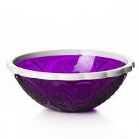 Салатник «Хрусталь» 500 мл цвет прозрачно-фиолетовый-белый M5463