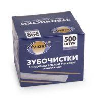 Зубочистки Aviora БАМБУК в индивидуальной бумажной упаковке 500 шт 401486