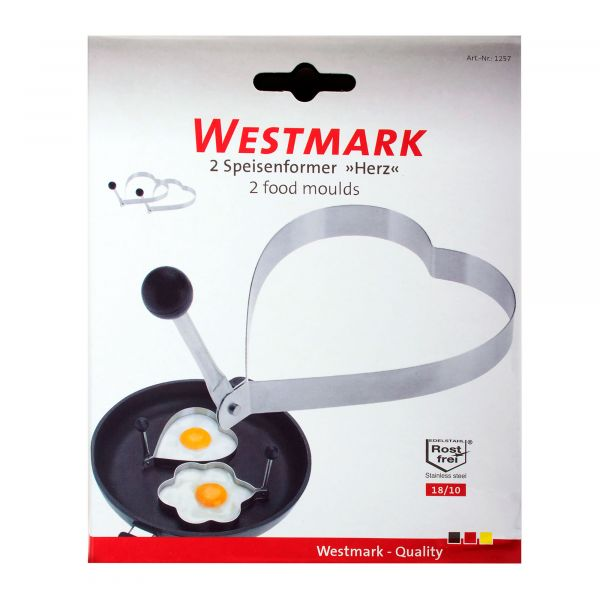Форма для яичницы, 2 шт. из нержавеющей стали, серия Steel, Westmark