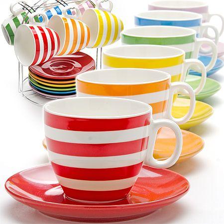 Сервиз чайный 13 предметов 220 мл на подставке LORAINE, 25070