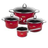 Набор посуды KOCHSTAR из 4-х предметов, цвет красный Metallica SOLID, RED-2