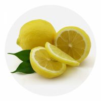 "Доска разделочная стеклянная круглая 20 см ""Лимон"" NEW"