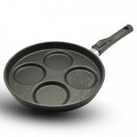 Сковорода литая для яичницы и оладий BAF Giant Newline 26 см со съемной ручкой