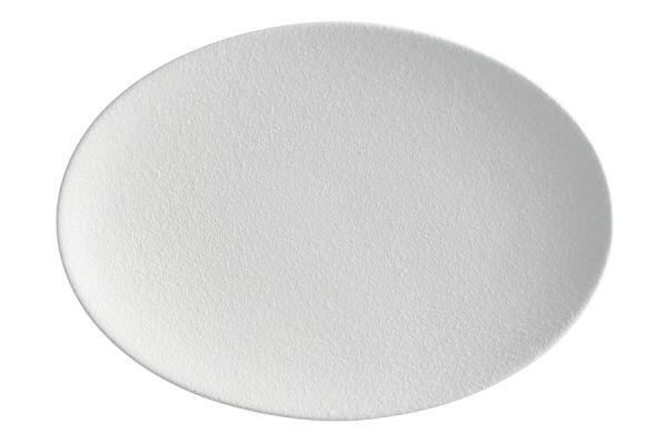 Тарелка овальная Икра (белая) без индивидуальной упаковки, MW602-AX0244