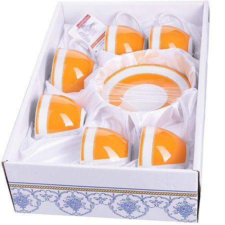 Чайный фарфоровый  набор из 12 предметов 220 мл  в подарочной упаковке LORAINE, 28580