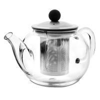 Чайник для кипячения и заваривания, стеклянный с фильтром 0,95 л, серия Kristall, IBILI
