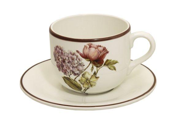 Чашка 0, 5 л с блюдцем Сады Флоренции, LCS933TP-BO-AL