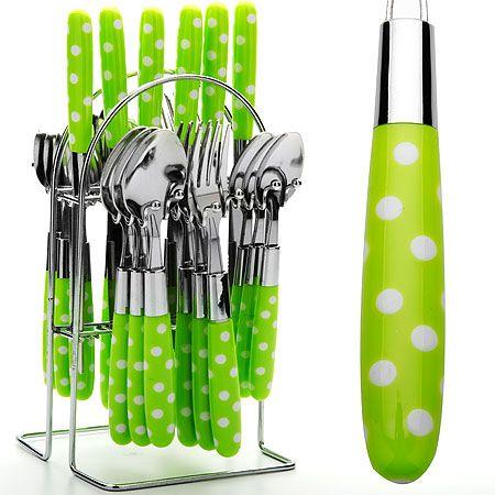 Набор столовых приборов Mayer&Boch 25 предметов цвет салатовый 22490-1