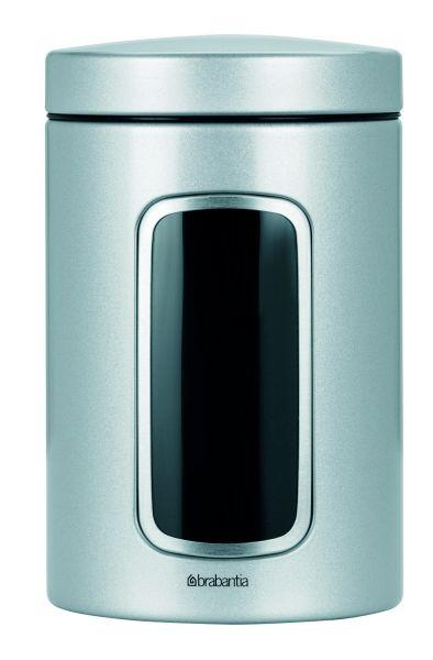 Контейнер для сыпучих продуктов с окном 1,4 л Brabantia, cерый металлик 243509