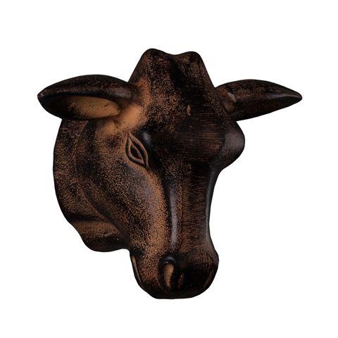 Декор ROOMERS «Голова быка» 20x16x12 см цвет бронзовый 4095-R