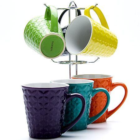 Набор чашек на металлической подставке 350 мл Lorain, 23138