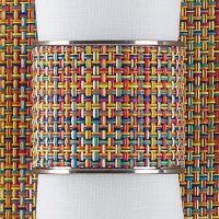 Кольцо для салфеток Confetti CHILEWICH Stainless steel 0802-MNBK-CONF