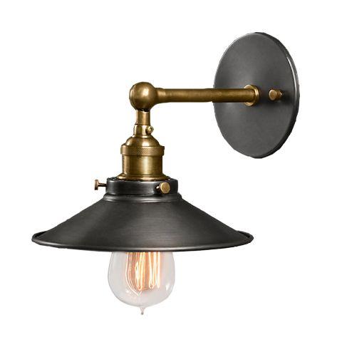 Светильник RESTORATION HARDWARE «Скон» 16x21x19 см цвет черная латунь DTL9103