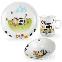 Сервиз детский 3 предмета, Kuhe (кружка, тарелка 20 см, салатник 16 см), серия Kinderseries, SELTMANN WEIDEN