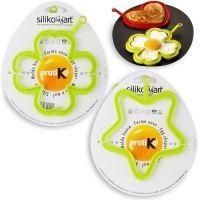 Набор для яичницы 2 штуки, цвет салатовый, SILIKOMART