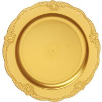 "Тарелка ""Винтаж"" 23 см золото, 10 шт Mayer&Boch, 14261"
