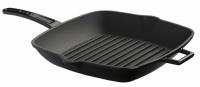 Литая чугунная сковорода-гриль LAVA BLACK 26*26 см, LVPGT2626K0