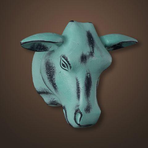 Декор ROOMERS «Голова быка» цвет голубой 4094-B