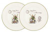 Набор из 2-х обеденных тарелок Букет, AL-120E2257-3-B-LF