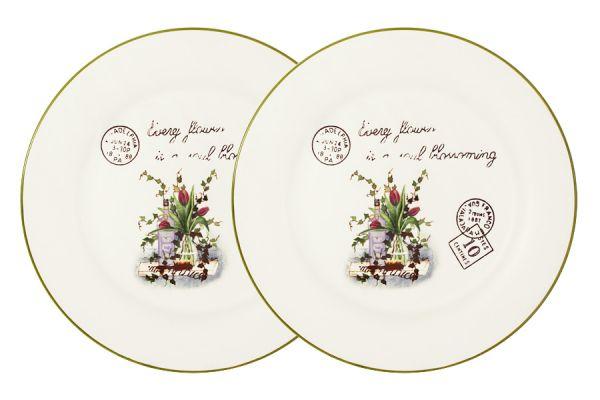 Набор обеденных тарелок Anna Lafarg LF Ceramics «Букет» 2 шт AL-120E2257-3-B-LF