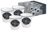 Набор из 4-х чашек для кофе Кухня в стиле Ретро в подарочной упаковке, EL-R1602_KIBC