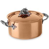 Кастрюля с декорированной крышкой, dia 20 см, 3,5 л, медь, серия Opus Cupra, RUFFONI