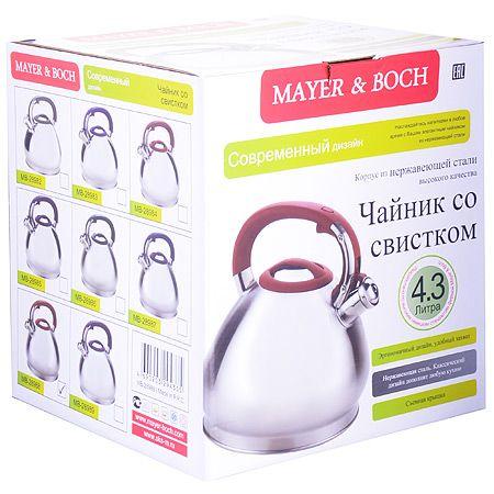 Чайник 4,3 л из нержавеющей стали со свистком Mayer&Boch, 28985