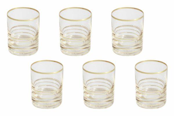 Набор стопок для водки Same Спираль 6 шт цвет золото SM2790_870-G