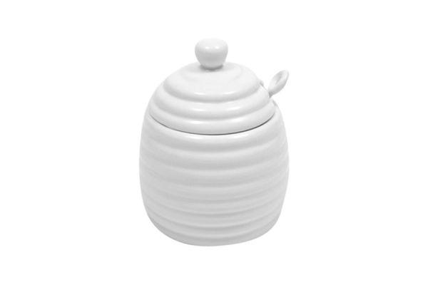 Банка для мёда с ложкой Белая коллекция в подарочной упаковке, MW602-AA6233