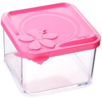 Контейнер пищевой Mayer&Boch пластиковый 660 мл 11,5х10,5х7,5 см розовый 80530-2