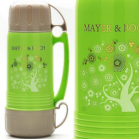 Термос с чашками, 1 л, стеклянная колба Mayer&Boch, 22601