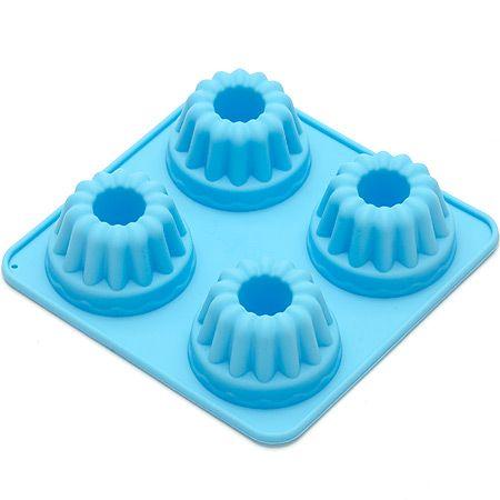 Форма для выпечки 130 мл с ручкой из силикона, синего цвета 8 Mayer&Boch, 26120